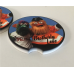 Pair Brotherly Love PHANATIC and GRITTY Car Coaster