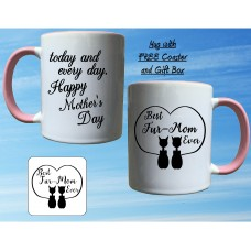 Best fur-mom ever mug and coaster set