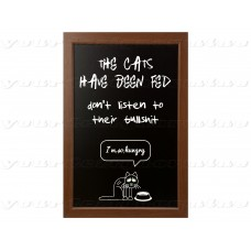 The Cats have been fed - don't listen to their bullshit  8x12 metal print sign