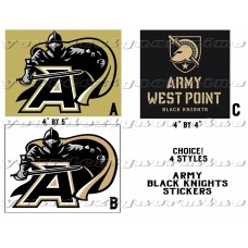 ARMY BLACK KNIGHTS West Point stickers