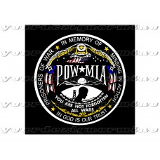 POW MIA All Wars Not forgotten - Decal