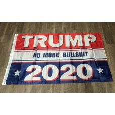 TRUMP 2020 No More Bullshit - flag