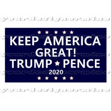 Keep America Great Trump Pence 2020 sticker