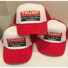 TRUMP 2020 ELECT the MFer mf'er AGAIN mesh Trucker hat adjustable