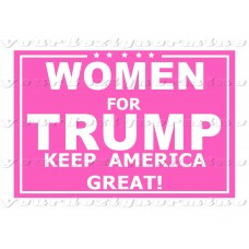 Women for Trump - Pink Metal yard sign