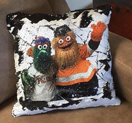 GRITTY and PHANATIC SEQUIN pillow