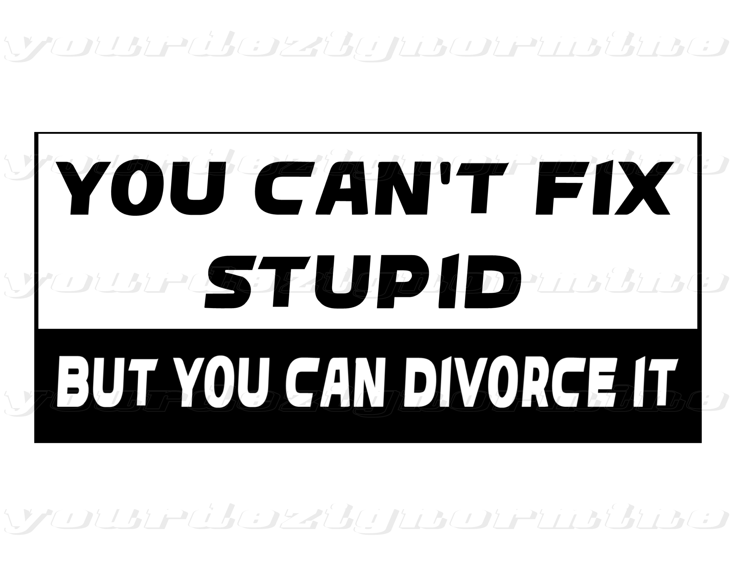 cant fix stupic sticker