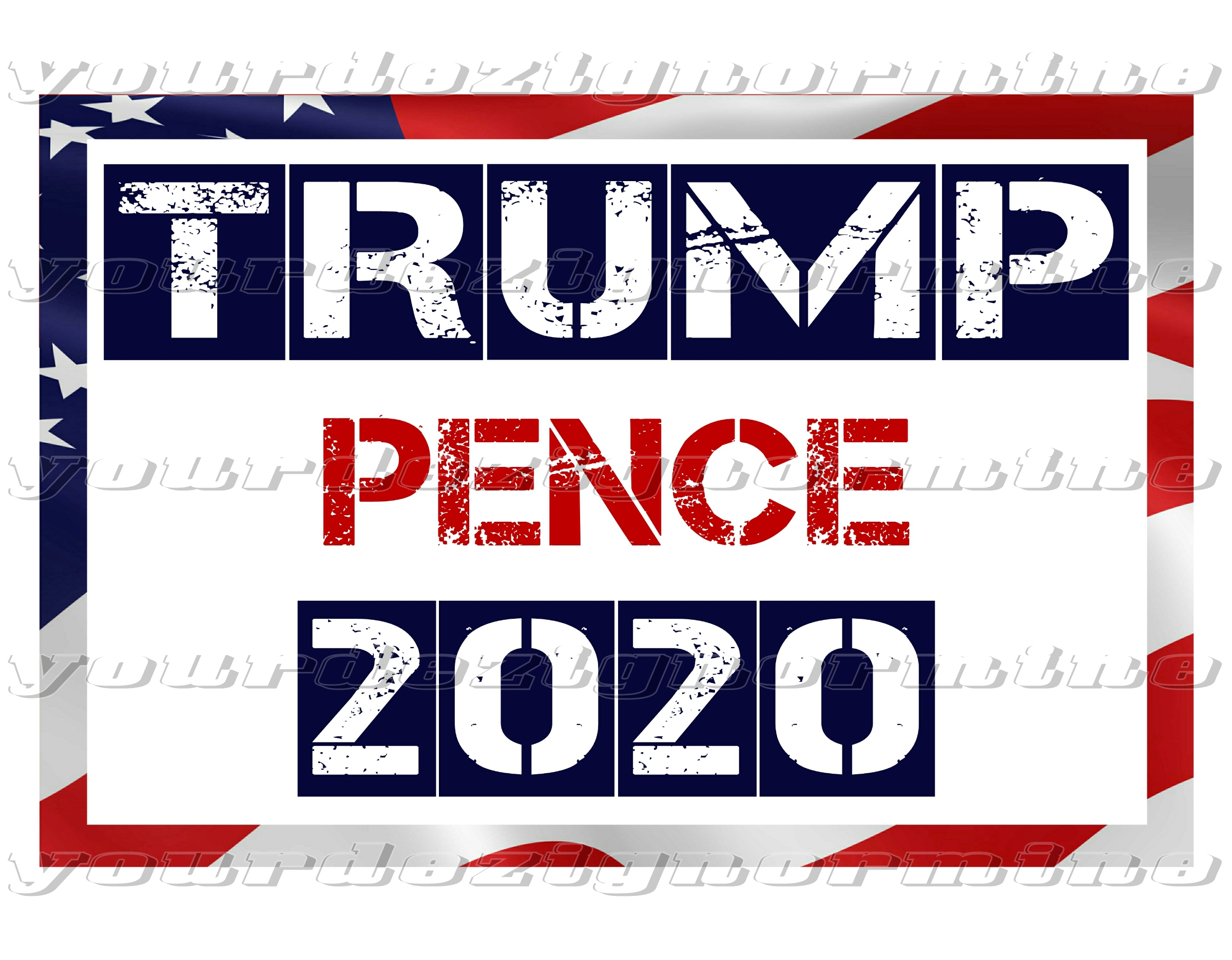 TRUMP PENCE metal yard sign