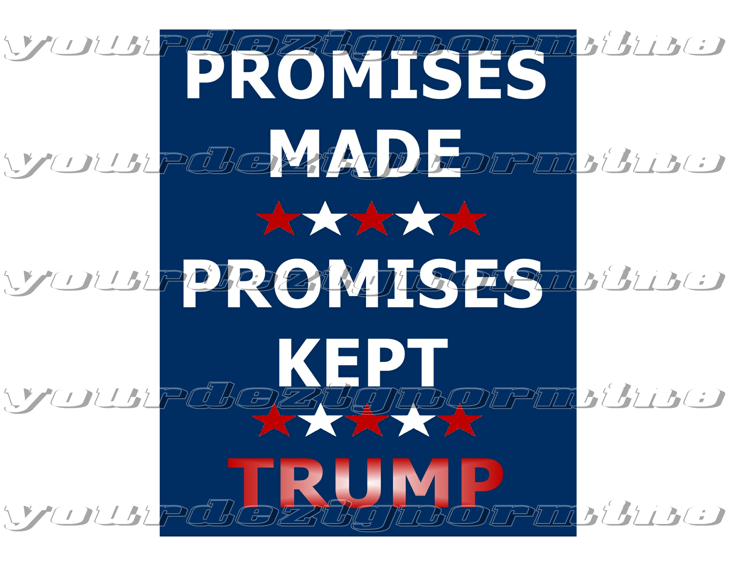 Promises Made Promises Kept Trump - decal